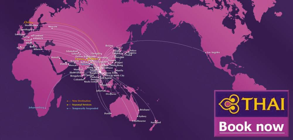 THAI AIRWAYS FLUGPLAN ✈ FRA-BKK | MUC-BKK Ankunft / Abflug