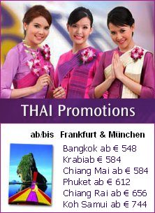 Thailand Direkt Flge mit Thai Airways buchen