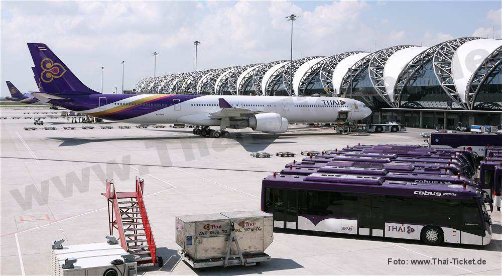 thai airways am flughafen bangkok
